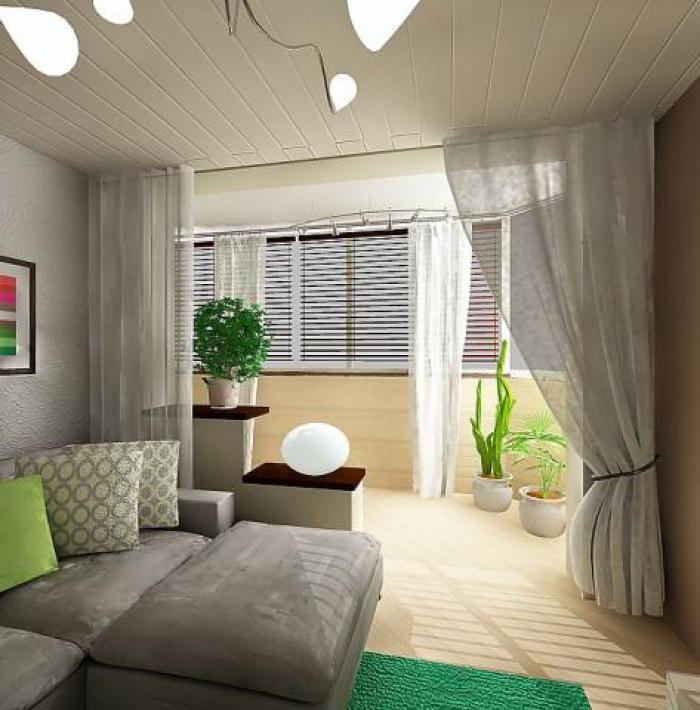 Шторы на лоджию совмещенную с комнатой дизайн