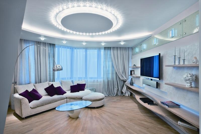 Красивый дизайн гостиных комнат