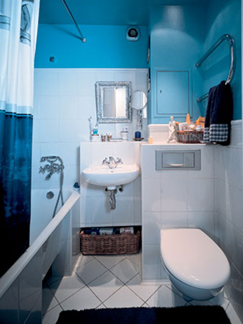 Совмещённый санузел с ванной дизайн 3 кв