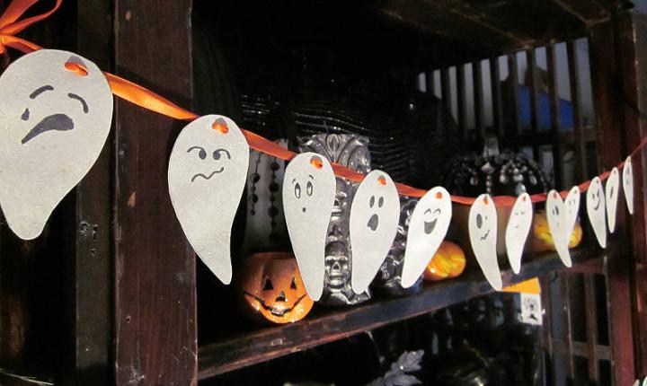 Как сделать гирлянду к хеллоуину