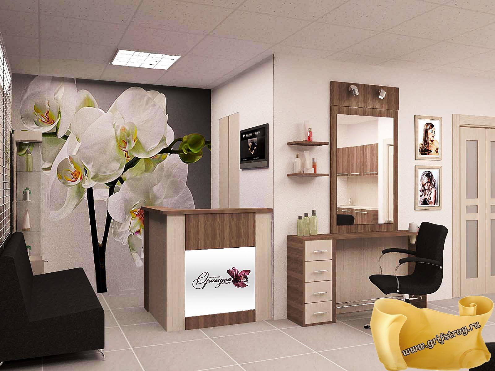 Интерьер парихмахерской. 70 фото дизайнов 79