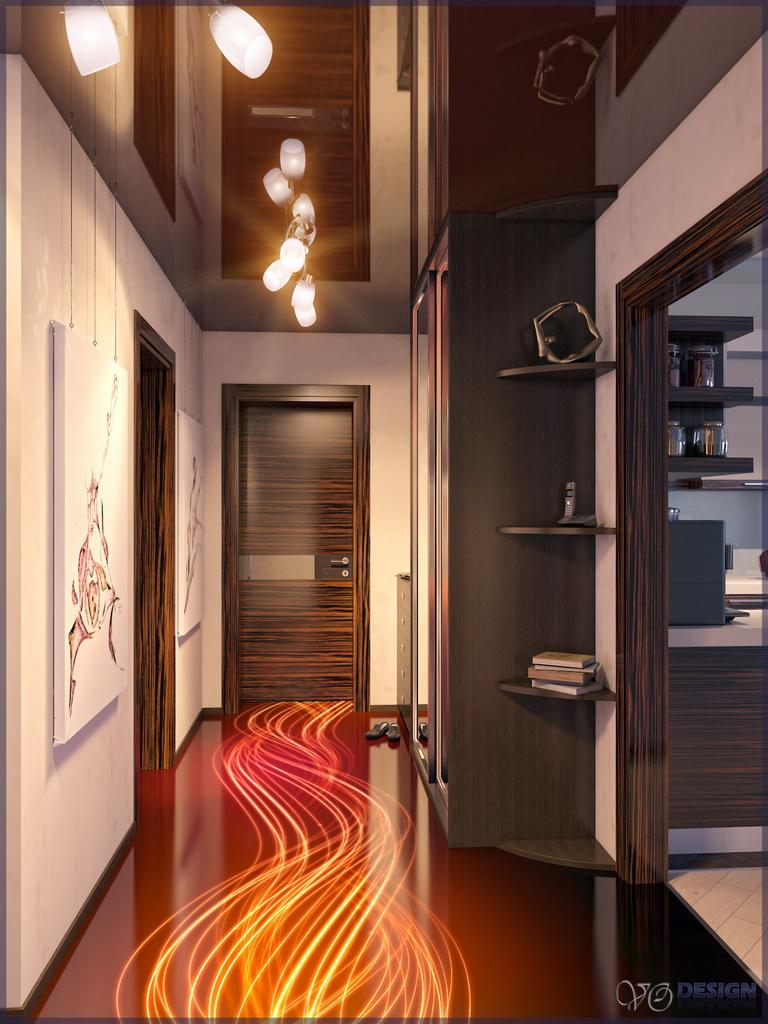 Дизайн прихожей в трехкомнатной квартире в панельном доме