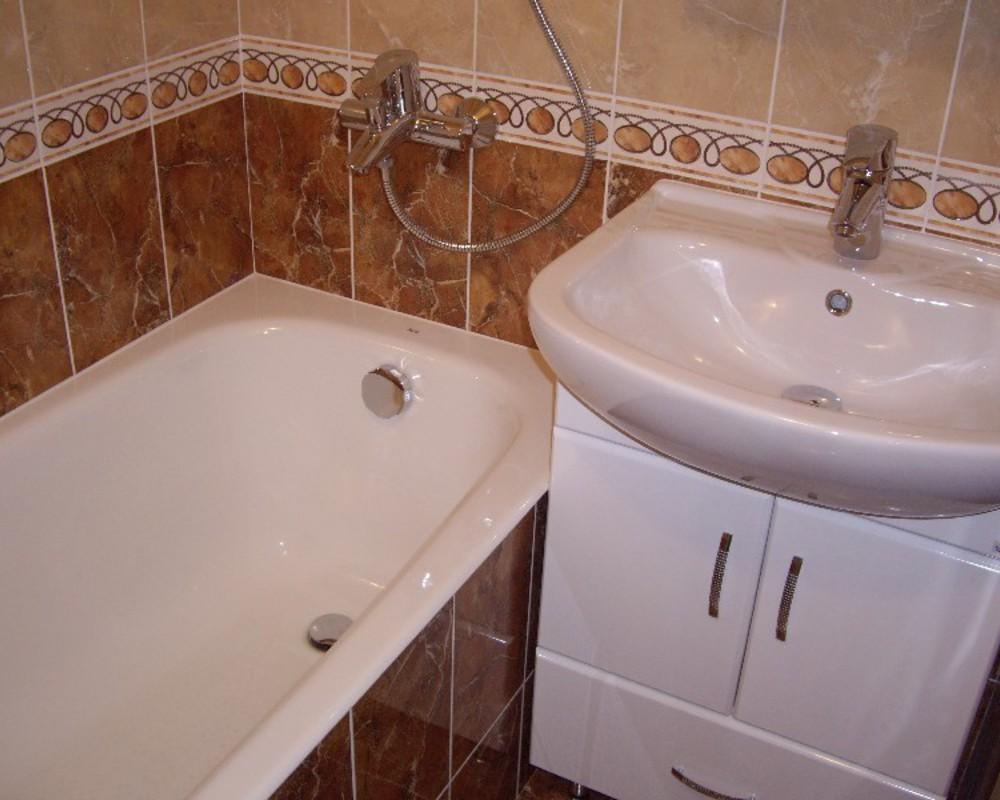 Дизайн стандартной ванной комнаты в квартире