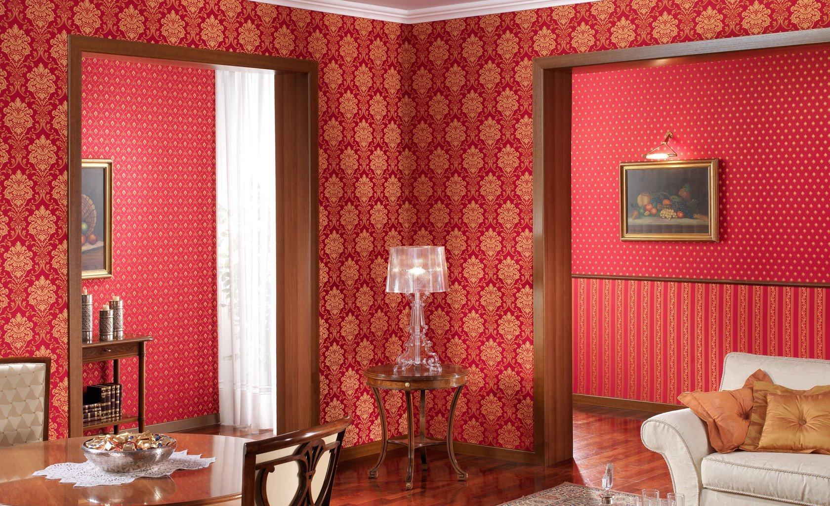 Итальянские обои в интерьере гостиной фото цена