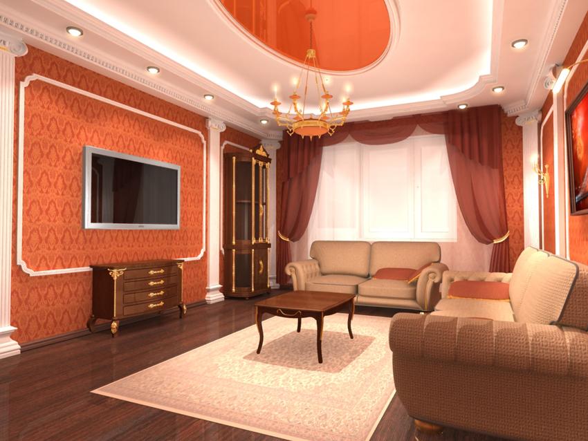 Ремонт зала в частном доме своими руками фото и идеи