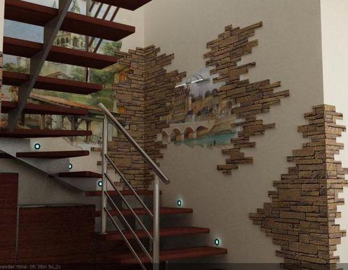 Дизайн лестничного пролета в частном доме
