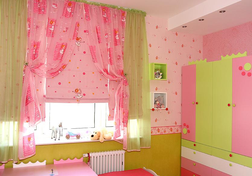 Шторы для детской комнаты фото для девочек своими руками