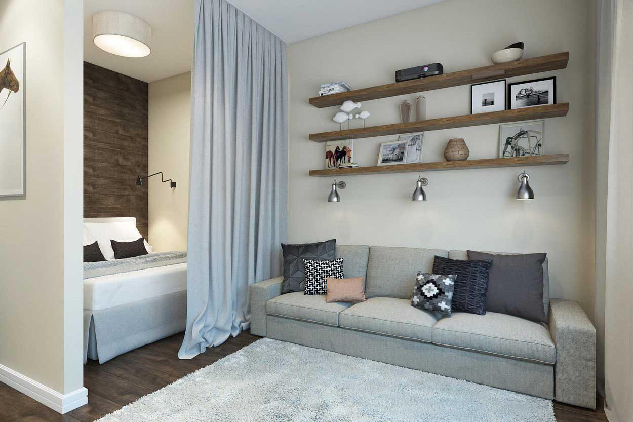 Дизайн однокомнатных квартир 40 кв м