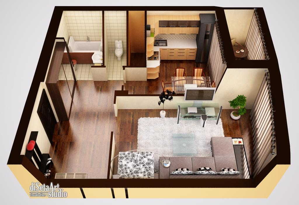 Дизайн квартир 50.кв