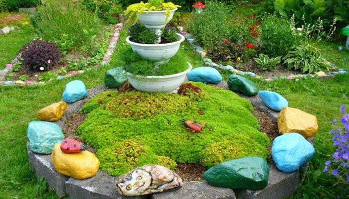 Оформить сад своими руками