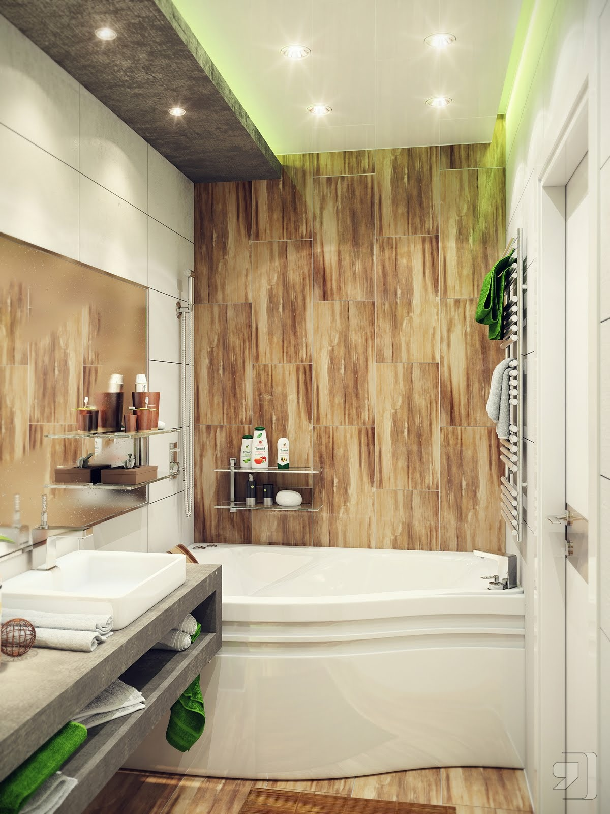 Маленькая ванная дизайн интерьера