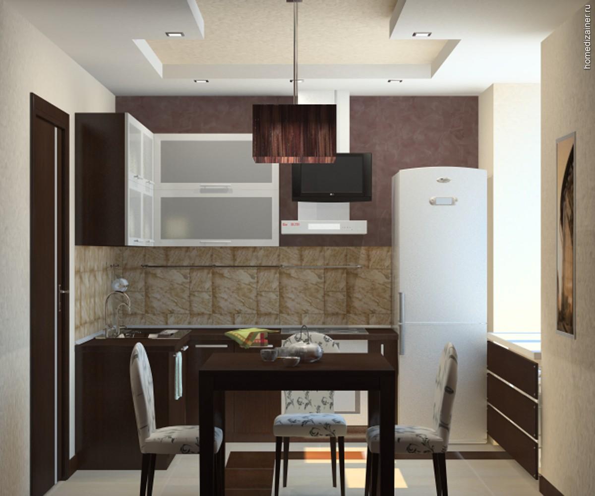Дизайн кухни для небольшой квартиры