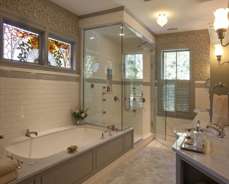 Ванная комната в загородном доме kakoiremont.ru.