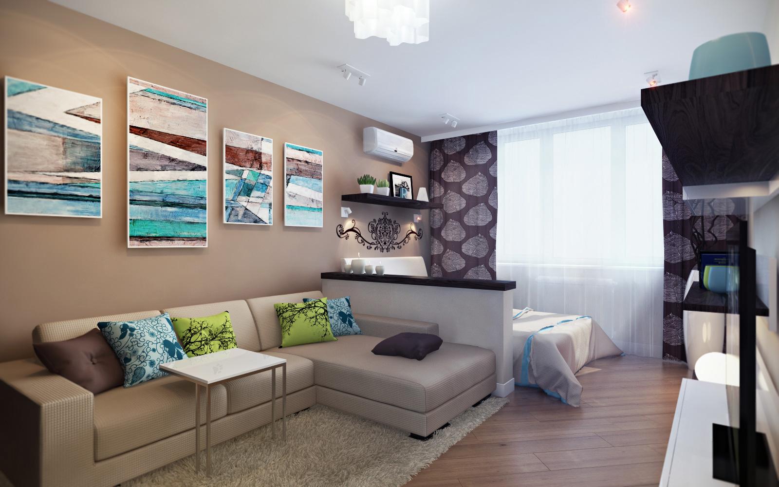 Интерьеры квартир 1 комнатных фото