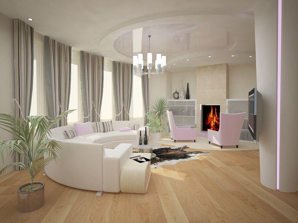 Дизайн интерьера гостиной с камином в коттедже фото