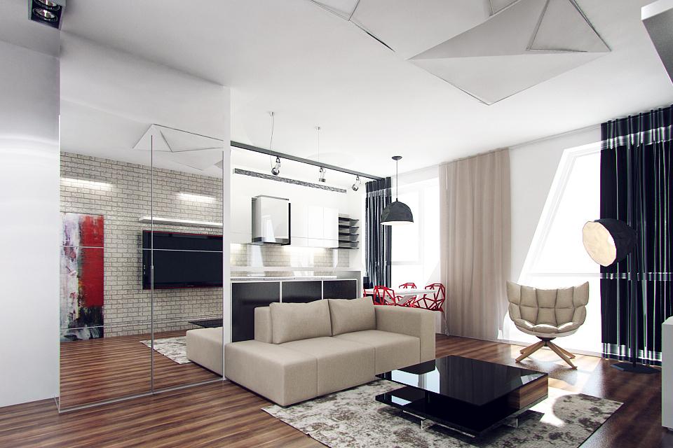 Лучший дизайн квартиры студии