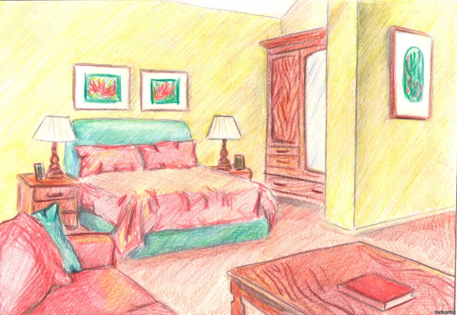 Рисуем красивую комнату