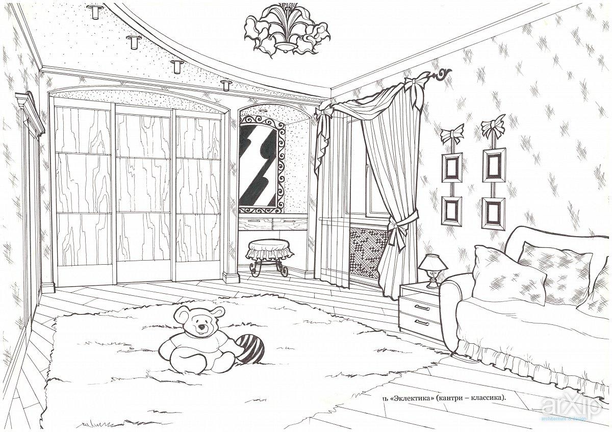 Графические рисунок моей комнаты