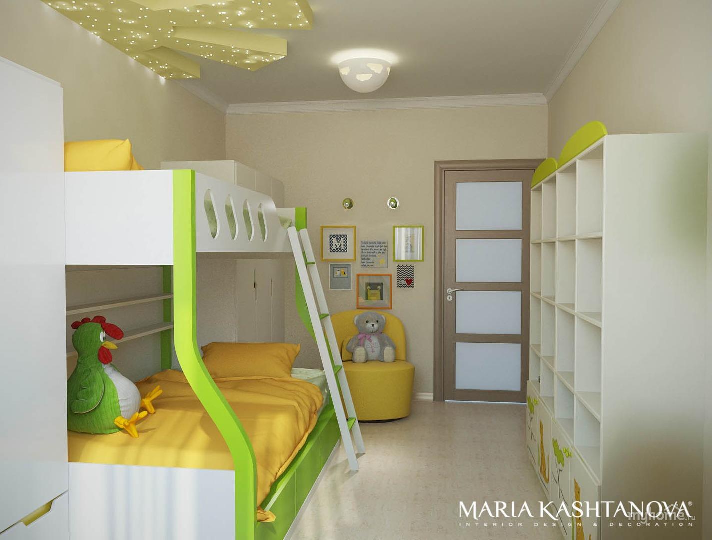 Детская комната в хрущевке для двоих детей 12 кв м фото