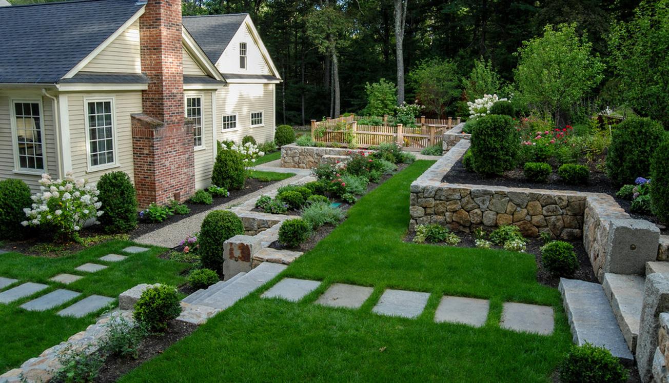 Ландшафтный дизайн участков частных домов