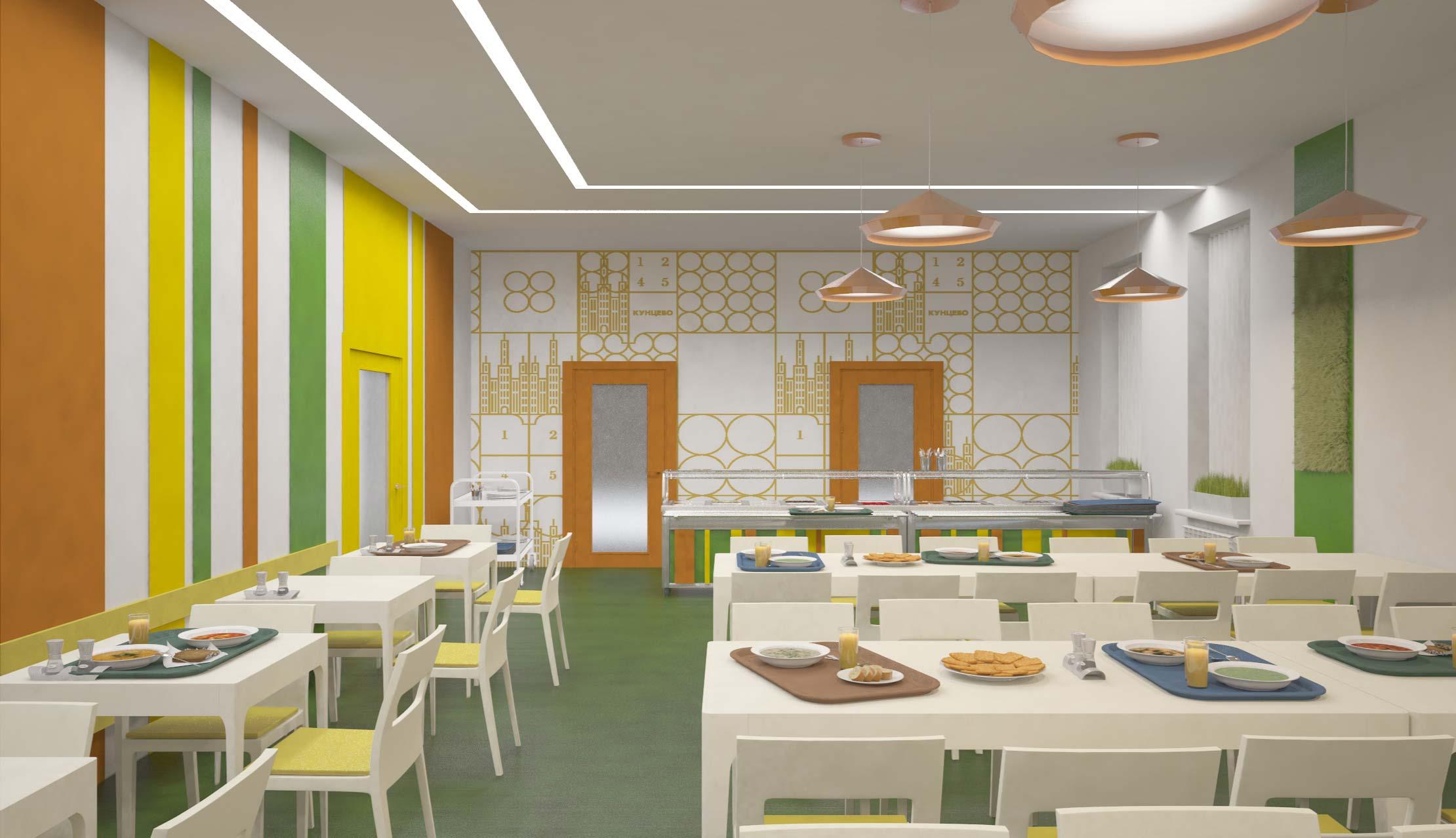 Дизайн школьных столовых