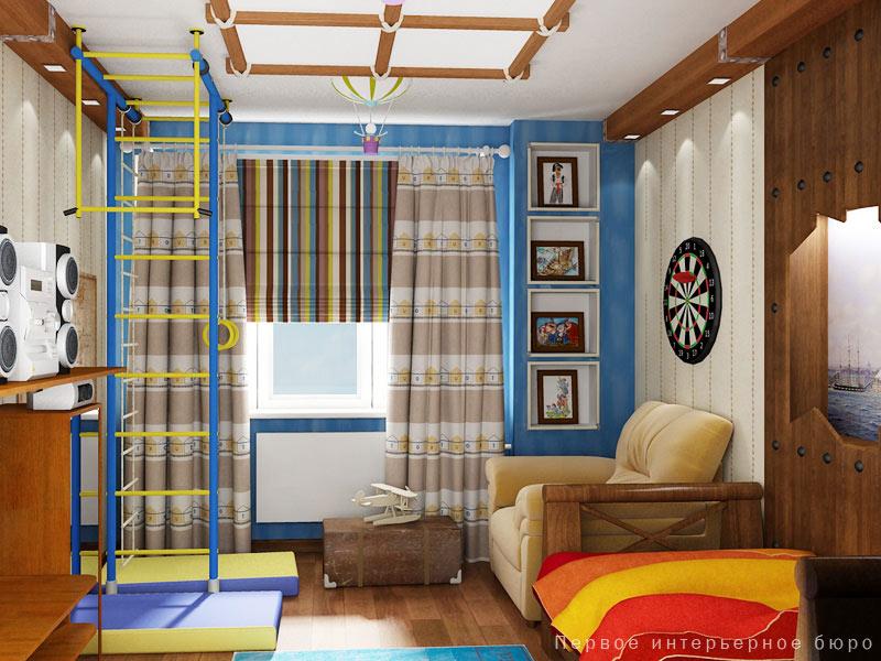 Детский интерьер комнаты фото для мальчика