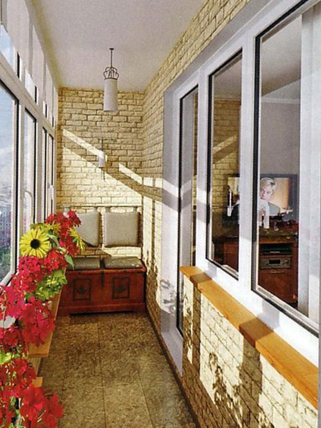 Варианты отделки балконов.