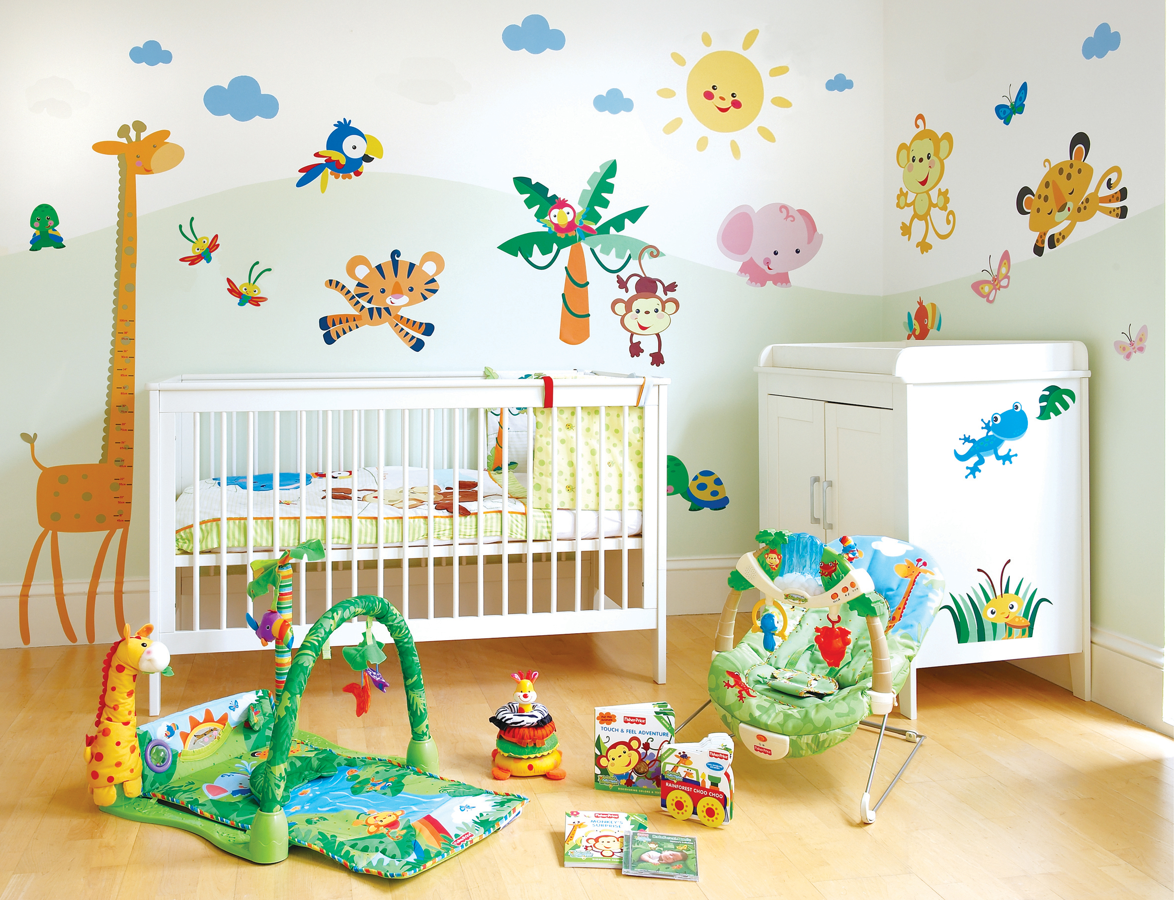 Украсить комнату своими руками для новорожденных