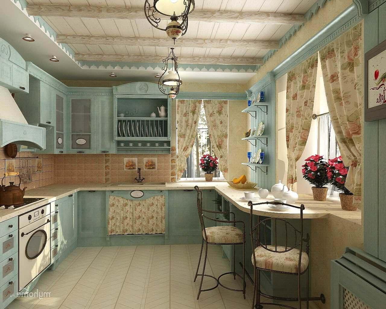 Прованс стиль в интерьере фото кухня