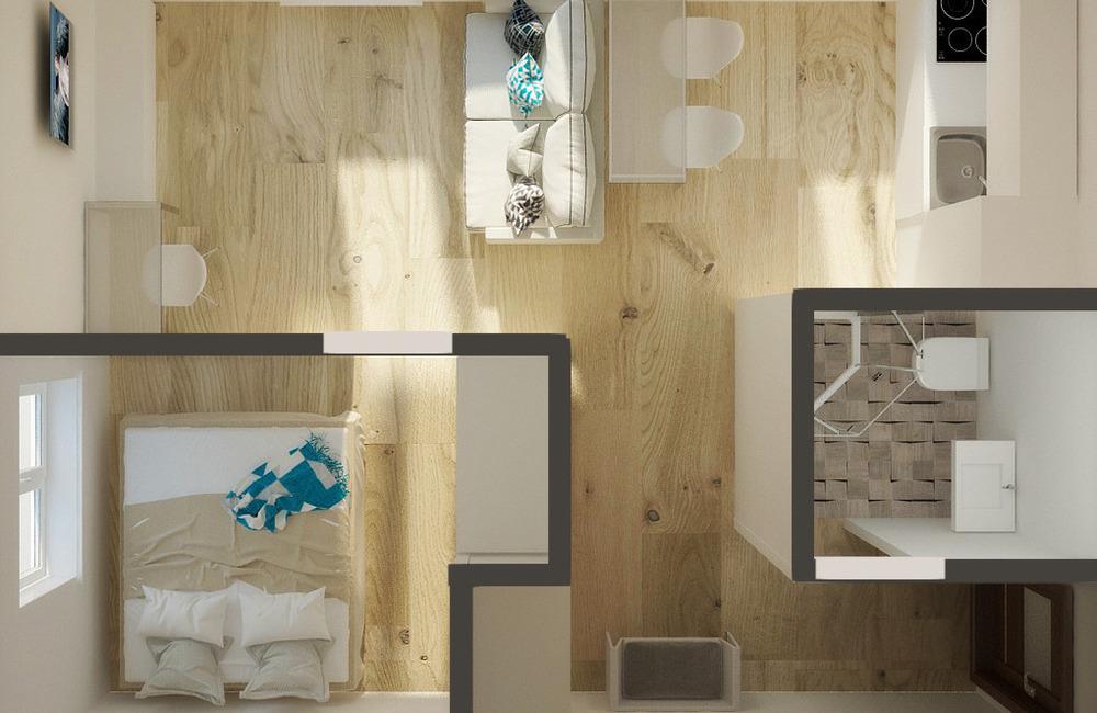 Дизайн квартир в хрущевке 2 комнатной угловая
