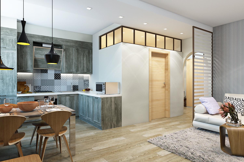 Дизайн интерьера однокомнатной квартиры брежневки
