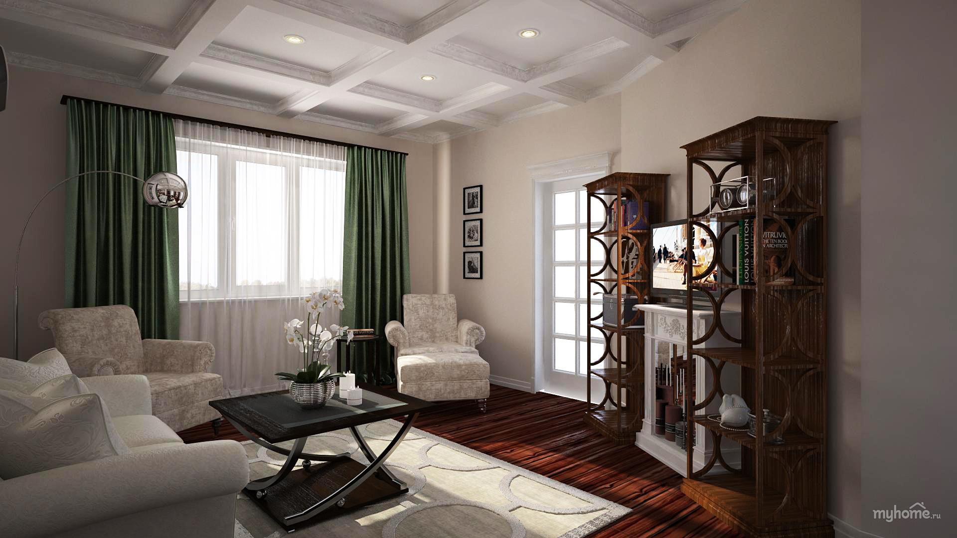 Фото дизайна 2 комнатной квартиры 56 кв м