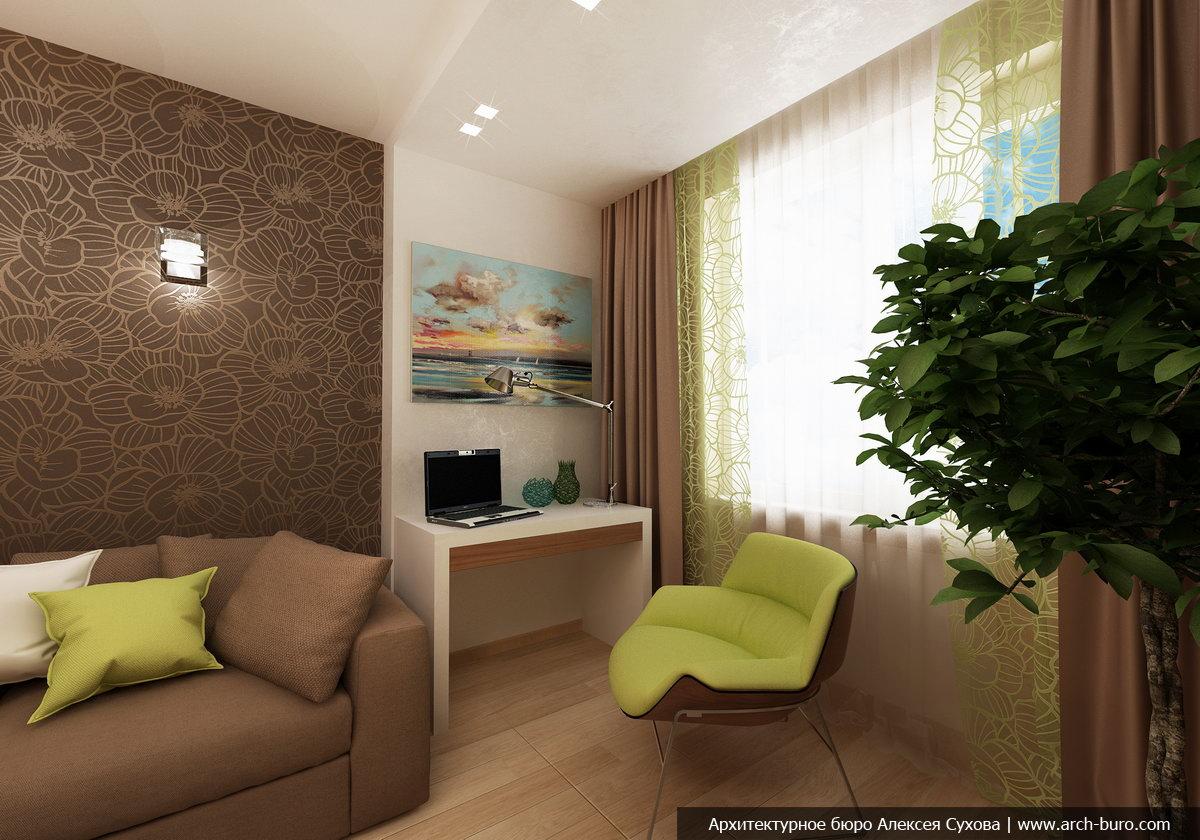 Дизайн комнаты 15 кв.м с обоями