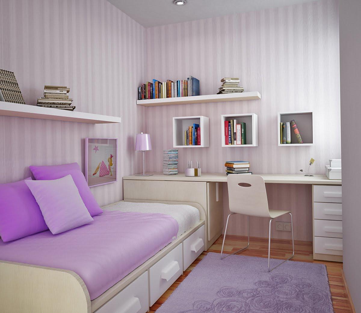 Интерьеры маленьких комнат для подростков девочек