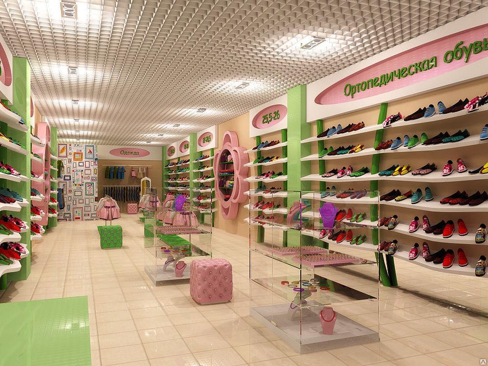 Магазин детской обуви фото интерьера