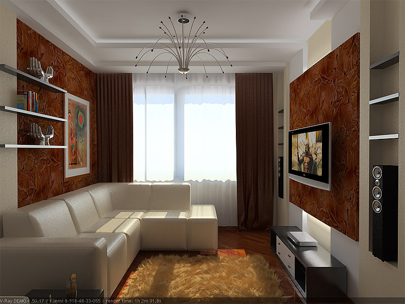 Интерьер зала 15 кв.м фото в квартире бюджетный вариант