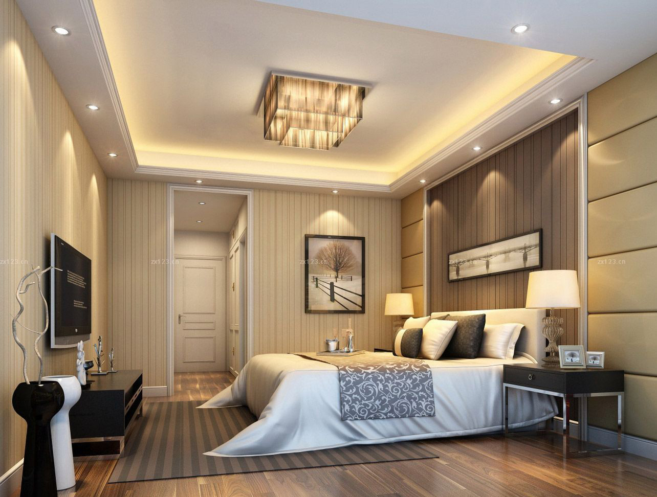 Дизайн потолка маленькой спальни 2017 современные идеи
