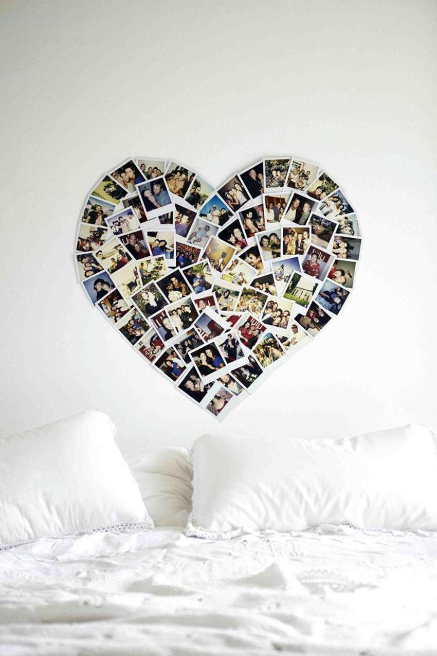 Коллаж на стене сграфиями своими руками