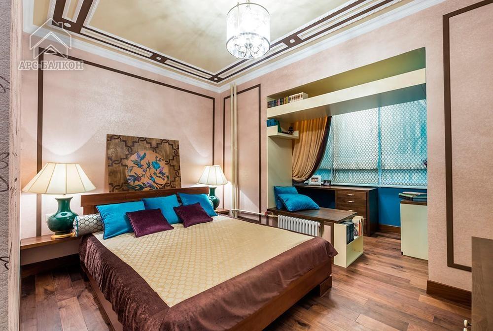 Дизайн спальни кв м с балконом