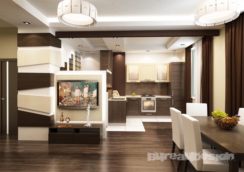 кухня совмещенная с гостиной фото для частного дома