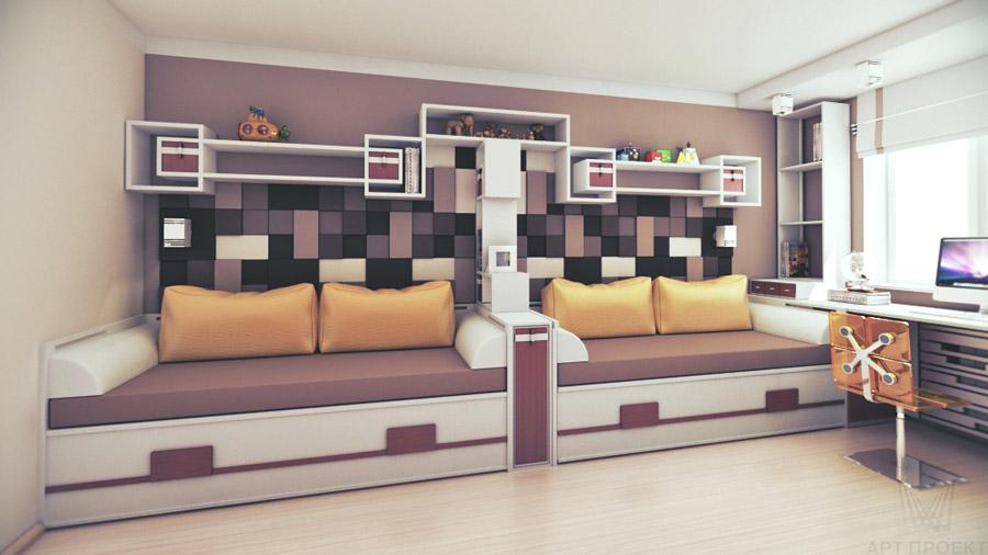 Дизайн детских комнат для 2 мальчиков