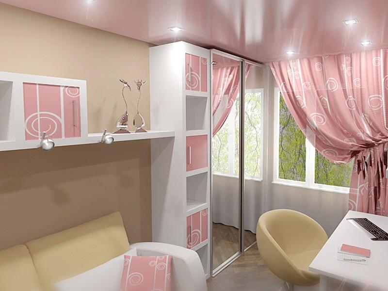 Интерьер маленькой спальни для девушки 9 кв.м фото