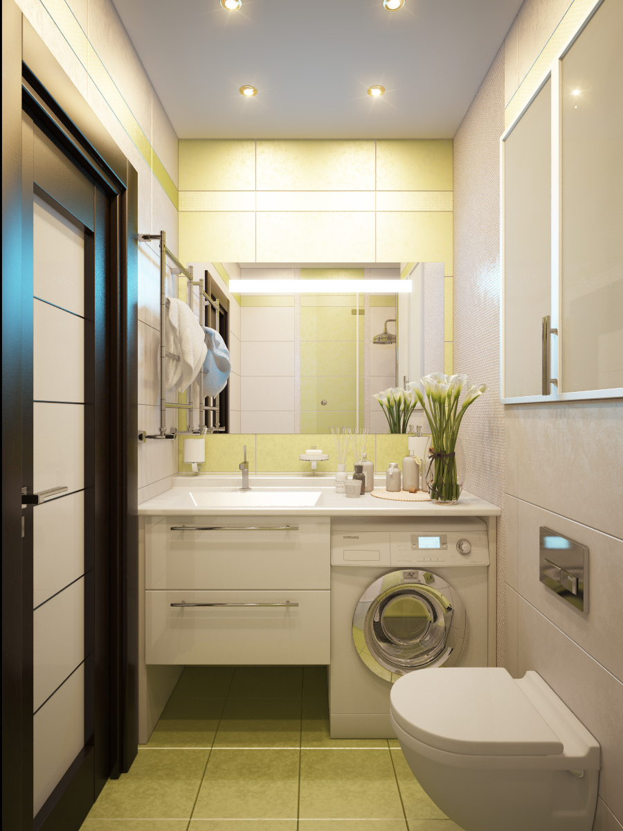 Дизайн совмещенного санузла в доме