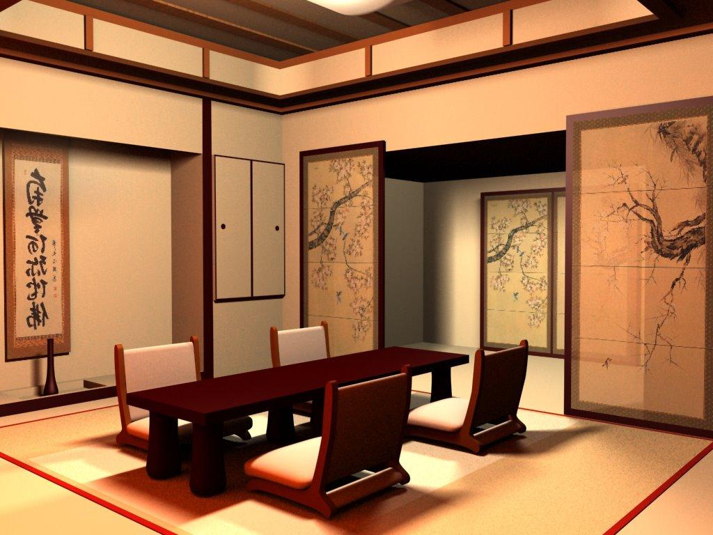 Дизайн залов в японском стиле