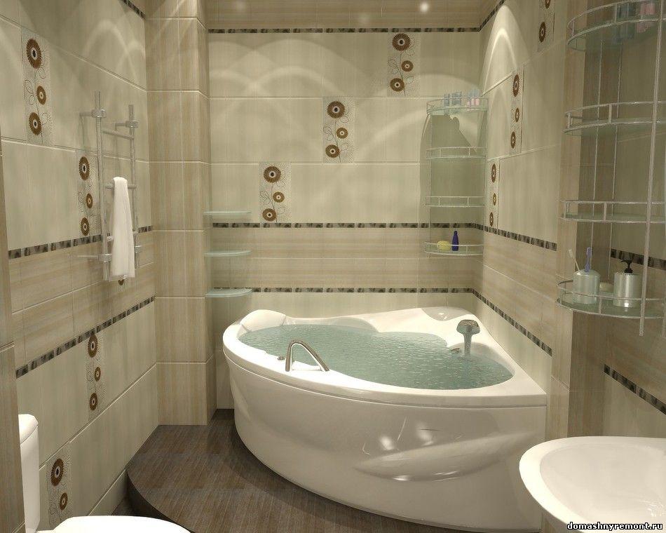 Ванные комнаты маленькие с угловой ванной фото