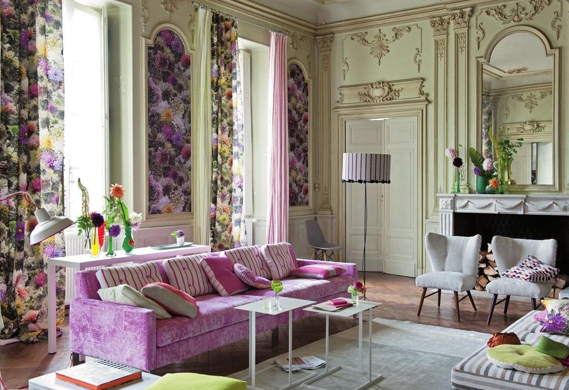 Как называется стиль в интерьере с цветами