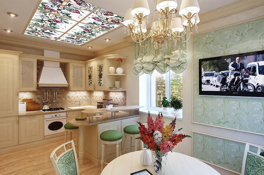 Дизайн интерьера кухни-студии (60+ фото)