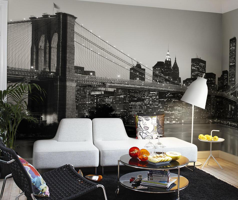 Фотообои нью-йорк фото в интерьере