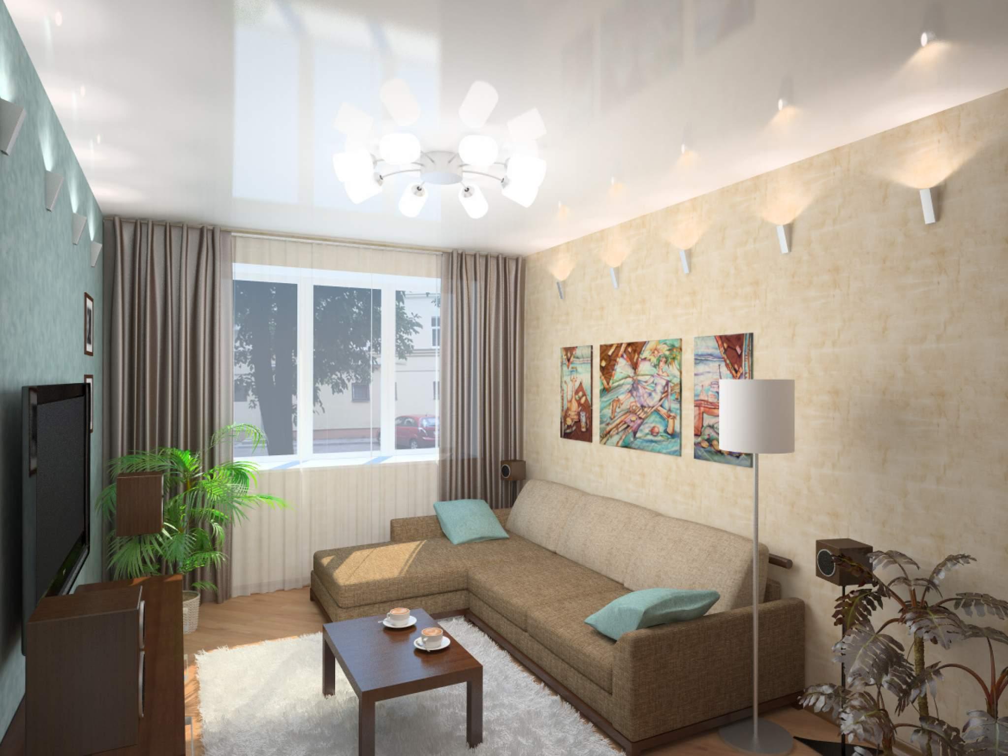 Маленькие зал дизайн