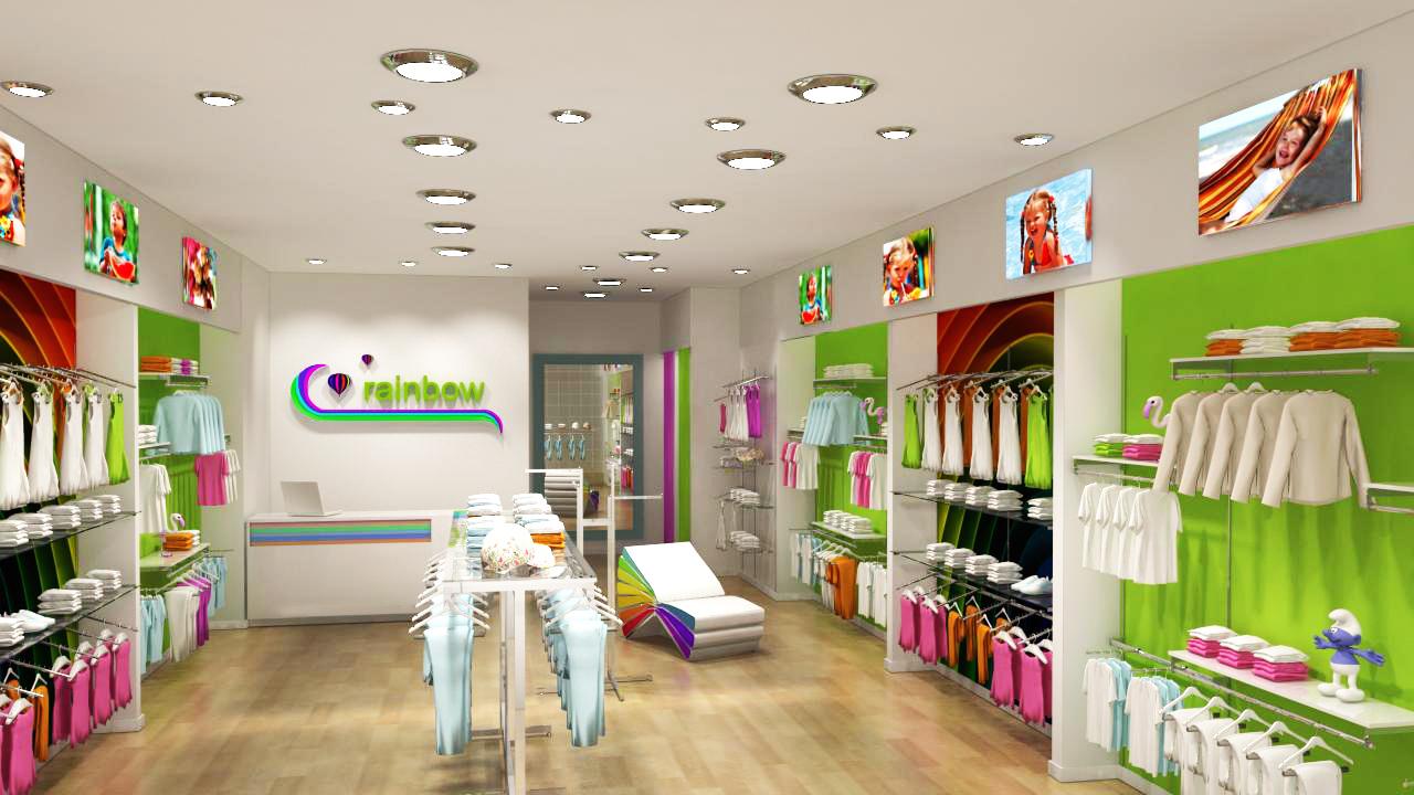Фото интерьер магазина детской одежды